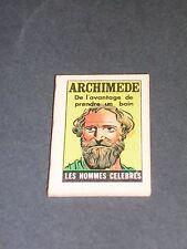 Livre miniature micro livre format 4x3cm Archimede