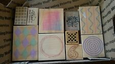 LOT of 10  - BACKROUNDS & ACCENT STAMPS Cardmaking/Scrapbooking/Stamping(L)