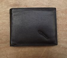 Jaguar logo Black Leather wallet with ID window