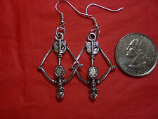 Bow Arrow Crossbow Daryl Walking Dead Katniss Earrings