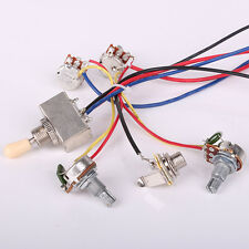Wiring Harness 2V2T/3Way Box Toggle Switch/jack/4-500K For LP electric Guitar