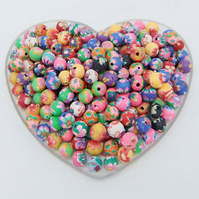 50 Pcs mixed fimo polymer clay Round Ball Spacer Charms beads 6mm Findings R04