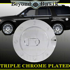 98-16 LINCOLN NAVIGATOR Triple ABS Chrome Fuel Gas Door Cover Cap Overlay Trim