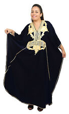 Plus size caftan Dress Women Kaftan Caftans Muslim Long Dress Casual Abaya Black