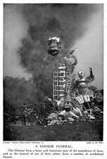 1913 Chinese Funeral In Java Burning Symbolic Figures