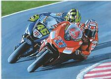 Valentino Rossi and Casey Stoner 2007 art print