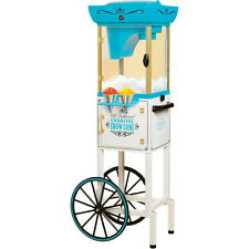 "Vintage Series 48"" Snow Cone Machine Cart, Electric Full-Size Shaver Ice Crusher"