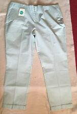 Ladies Boden cotton trousers Turquoise Green size 22 Long BNWT