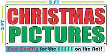CHRISTMAS PICTURES Banner Sign NEW Larger Size Best Quality for the $$$