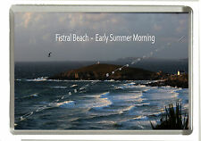 Newquay Fistral Beach Early One Summer Morning - Jumbo Fridge Magnet 90mm x 60mm