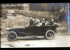 GAVARNIE (65) AUTOMOBILE & TOURISTES en tres gros plan Carte-Photo postale 1921