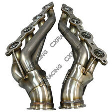 "CX 3"" Vband LS1 LSx Twin Turbo Manifold Header For 63-67 Chevelle Camaro Impala"