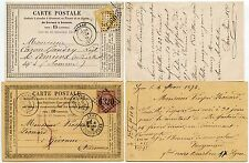 FRANCE 1875-6 FORMULA CARDS VERY FINE 10c + 15c LYON + MILLAU