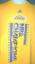 2010 Los Angeles Lakers Adult XL World Champs Yellow T-Shirt (X-Large Champions)