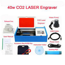 CO2 LASER ENGRAVING MACHINE MOSHIDRAW SOFTWARE CUTTING ENGRAVER 40W LASER TUBE