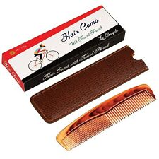 dotcomgiftshop LE BICYCLE TRAVEL-SIZED COMB IN A LEATHERETTE CASE