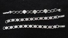 LOT OF THREE SILVER COLOR CHAIN LINKED BRACELETS