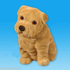 Flocked Puppy Coin Bank