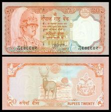 Nepal 20 Rupees P38b ND(1988) UNC (sign 13)