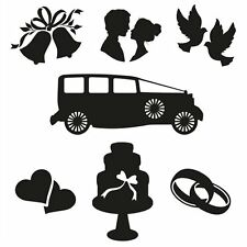 CLARITY STAMPS Set of Clear Stamps WEE FOLK Set 6 STA-PE-10033 Wedding Bells Car