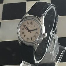 1940's Bulova J9 Mechanical Military Dial 10BCC Men's Watch Works