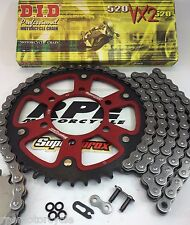 Z750 04-11 ZR750 RED SUPERSPROX DID CHAIN AND SPROCKETS KIT KAWASAKI Quick Accl