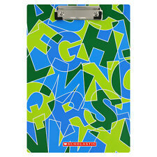 Scholastic Graphic Alphabet Clipboard Blue/Green