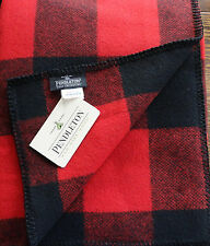 NWT PENDLETON WOOL BLANKET KING BLANKET WASHABLE RED ROB ROY TARTAN PLAID USA