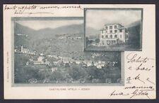 COMO CASTIGLIONE D'INTELVI 07 VEDUTINE - HOTEL ALBERGO Cartolina viagg. (1900 ?)
