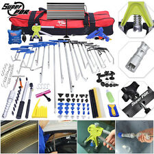 115pc PDR Tools Paintless Dent Repair Removal Rods LED Dent Puller Lifter Hammer