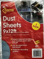 PACK OF 2 LIGHTWEIGHT 9 x 12 FOOT PROTECTOR DUST SHEETS DIY PAINTING PROTECTS