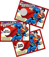 SUPERMAN (DESIGN #1) SCRATCH OFFS PARTY GAMES GAME CARDS BIRTHDAY PARTY FAVORS