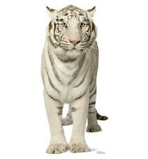 front view WHITE TIGER STANDEE * animal standups * circus theme party * jungle