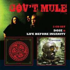 Gov't Mule LIFE BEFORE INSANITY / DOSE 2nd & 3rd Albums NEW SEALED 2 CD