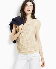 Brand New Ann Taylor Rope Shell Color White Sz S