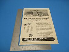 1945 Print Ad Link-Belt Chains For Drivers By Link Belt Company PA1945