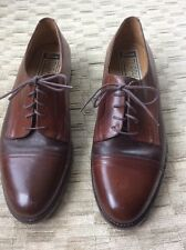 Johnston & Murphy Mens pair of Oxford shoes Made in Brazil Awesome 9 1/2 M
