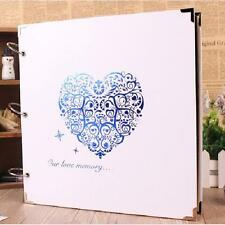 """Pure White"" Photo Picture Album Luxury Ring Binder DIY Wedding Family Album"