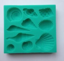 Shell Seashells Silicone Fondant Mold Cake Cupcake Flower Embossing Sugarcraft