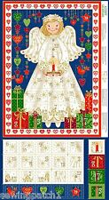 Angel Christmas Advent Calendar Panel, 100% cotton. makower 1516