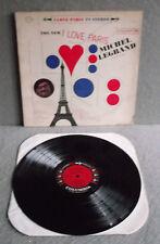 MICHEL LEGRAND ORCHESTRA  I LOVE PARIS Columbia 6Eye Lp Record CS8440 Pop