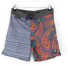 NWT INSIGHT BOARSHORTS 32 BEACH DREGS MID BLUE STRIPE SURF TRUNKS BOARD SHORTS
