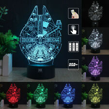 Star Wars Millennium Falcon 3D LED Night Light Table Desk Lamp Remote Control