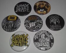 7 Napalm Death button Metal Scum Grindcore From Enslavement to Obliteration UK