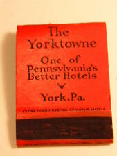 Early advertising matchbook: The Yorktowne Hote, York, PA