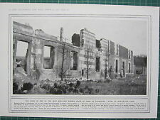 1915 WWI WW1 PRINT ~ RUINS OF BEAUSEJOUR FARM FRENCH FEATS ARMS IN CHAMPAGNE