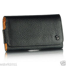 APPLE iPHONE 5 BLACK LEATHERETTE CASE BELT CLIP HORIZONTAL POUCH LUX4