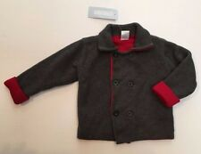 NWT Gymboree Snow Panda 18-24 Months Red Charcoal Gray Reversible Sweater Jacket