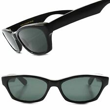 True Vintage Deadstock Old School Urban Black Mens Rectangle Hipster Sunglasses
