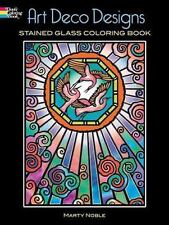 Dover ART DECO DESIGNS Stained Glass Adult Coloring Book Marty Noble 2006